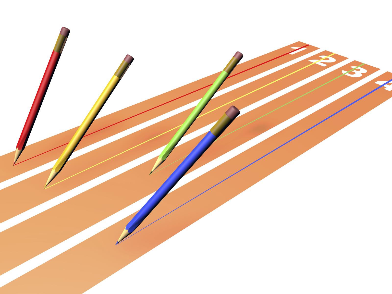 Pencils race