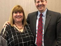 Photo: OEA President Becky Higgins and Gubernatorial Candidate Richard Cordray at the OEA Fund for Children and Public Education convention, May 19, 2018.