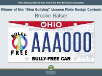 "Image: ""Stop Bullying"" License Plate"