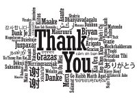 Image: Multi-language Thank You