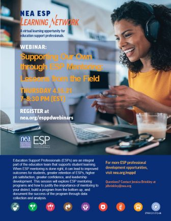 ESP Webinar flyer
