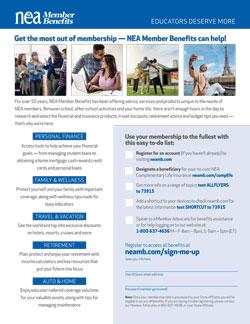 NEA Member Benefit Flyer – New Member